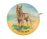 Police Dog Art Button Museum