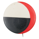 Red Black White Shapes Art Button Museum