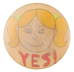 Yes Girl Art Button Museum