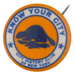 City History Club of New York Club Button Museum