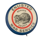 Enlisted War Service Beavers Button Museum