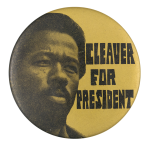 Cleaver for President Cause Button Museum