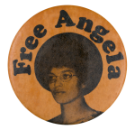 Free Angela Cause Button Museum