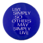 Live Simply Cause Button Museum