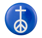 Peace Sign Cross Cause Button Museum
