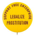 Support Free Enterprise Cause Button Museum