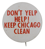 Don't Yelp Help Chicago Button Museum
