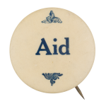 Aid In Blue  Club Button Museum