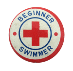Beginner Swimmer Club Button Museum