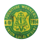 Furniture Workers Union Club Button Museum