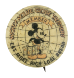 Mickey Mouse Globetrotters Club Button Museum