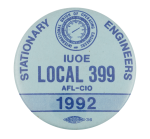 Stationary Engineers Union 1992 Club Button Museum
