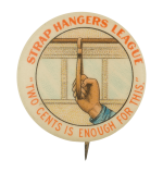 Strap Hangers League Club Button Museum
