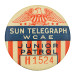 Sun Telegraph Junior Patrol Club Button Museum