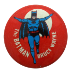 The Batman Bruce Wayne Entertainment Button Museum