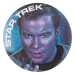 Captain Kirk Star Trek Entertainment Button Museum