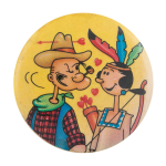 Cowboy Popeye And Olive Oyl Entertainment Button Museum