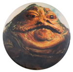 Jabba the Hut Star Wars Entertainment Button Museum