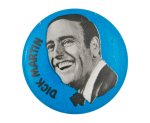 Laugh-In Dick Martin Blue Entertainment Button Museum