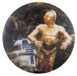 R2-D2 and C-3PO Entertainment Button Museum