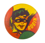 Robin In Red Yellow And Green Entertainment Button Museum