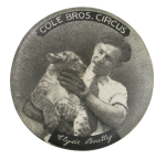 Cole Bros Circus Clyde Beatty Event Button Museum
