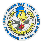 Earth Day 1992 Events Button Museum