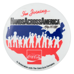 Hands Across America Event Button Museum