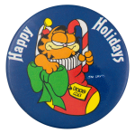Happy Holidays Garfield Event Button Museum