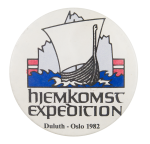 Hjemkomst Expedition Event Button Museum
