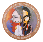 National American Indian Heritage Month 1998 Events Button Museum