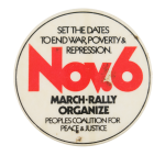 November 6 March Rally Event Button Museum