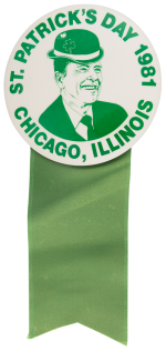 Reagan St. Patrick's Day 1981 Chicago Button Museum