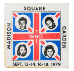 The Who Madison Square Garden Event Button Museum