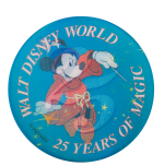 Walt Disney World 25 Years Of Magic Event Button Museum