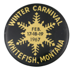 Winter Carnival Whitefish, Montana Event Button Museum
