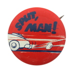 Split Man  Humorous Button Museum