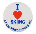 I Heart Skiing At Big Powderhorn Mountain I ♥ Buttons Button Museum