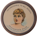 Indispensable To All Women Advertising Button Museum