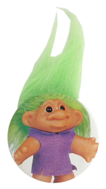 Troll Doll Green Innovative Button Museum