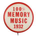 100% Memory Music 1932 Music Button Museum