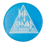 Def Leppard Blue and White Music Button Museum