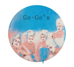 Go Go's Beauty And The Beat Circle Music Button Museum