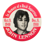 In Memory Of A Rock Superstar John Lennon  Music Button Museum