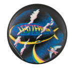 Led Zeppelin Rainbow and Clouds  Music Button Museum