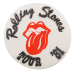 Rolling Stones Tour '81 Music Button Museum