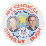 APIC Binkley Bush Political Button Museum