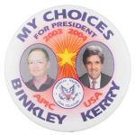 APIC Binkley Kerry Political Button Museum