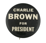 Charlie Brown for President Political Button Museum