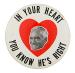 Goldwater in Your Heart Political Button Museum